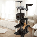 i.Pet 193cm Multi Level Cat Scratching Post - Grey