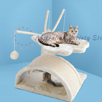 i.Pet 45cm Cat Scratching Tree - Beige