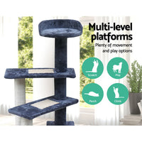 100cm Multi Level Cat Scratching Tree - Grey