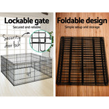 "i.Pet 2X24"" 8 Panel Pet Dog Playpen Puppy Exercise Cage"