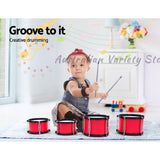 Keezi Kids 7 Drum Set Junior Drums Kit Musical Play Toys Childrens Mini Big Band | Australian Variety Store