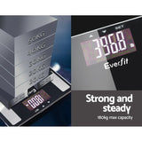 Everfit Electronic Digital Body Fat Scale Bathroom Weight Scale-Black | Australian Variety Store