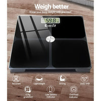 Everfit Electronic Digital Body Weight Scale Bathroom Scale-Black | Australian Variety Store