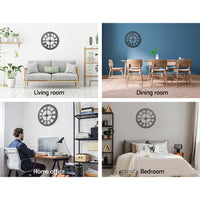 Wall Clock Extra Large Modern Silent No Ticking Movements 3D Home Office Kitchen Decor - 60cm