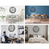 Wall Clock Extra Large Modern Silent No Ticking Movements 3D Home Office Kitchen Decor - 80cm