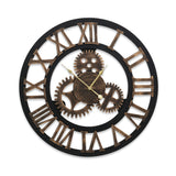 Wall Clock Extra Large Vintage Silent No Ticking Movements 3D Home Office Decor - 60cm
