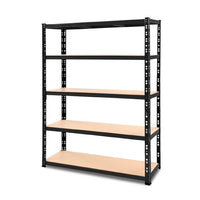 Giantz 1.2M Warehouse Racking Shelving Storage Shelf Garage Shelves Rack Steel Black