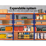 Giantz 1.2M Warehouse Racking Shelving Storage Shelf Garage Shelves Rack Steel Blue and Orange