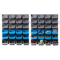 Giantz 48 Bin Wall Mounted Rack Storage Organiser