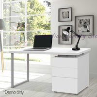 Artiss Metal Desk with 3 Drawers - White | Australian Variety Store