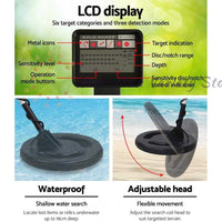 LCD Screen Metal Detector with Headphones - Black