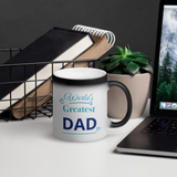 Worlds Greatest DAD Matte Black Magic Mug