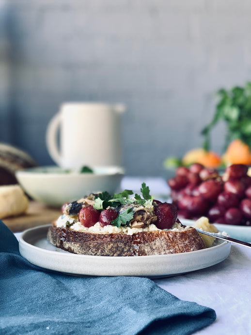 Harriet Olive makes Roasted Grapes Two Ways - for made + more