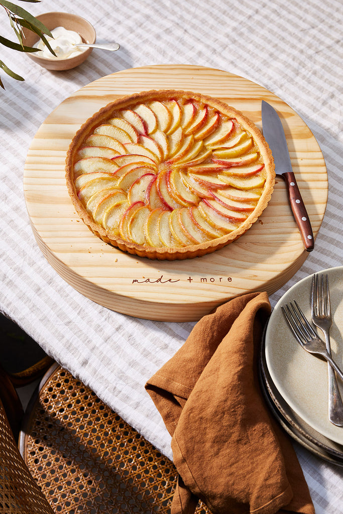 Tarte aux pommes - delicious sliced apples perfectly baked in a tart case