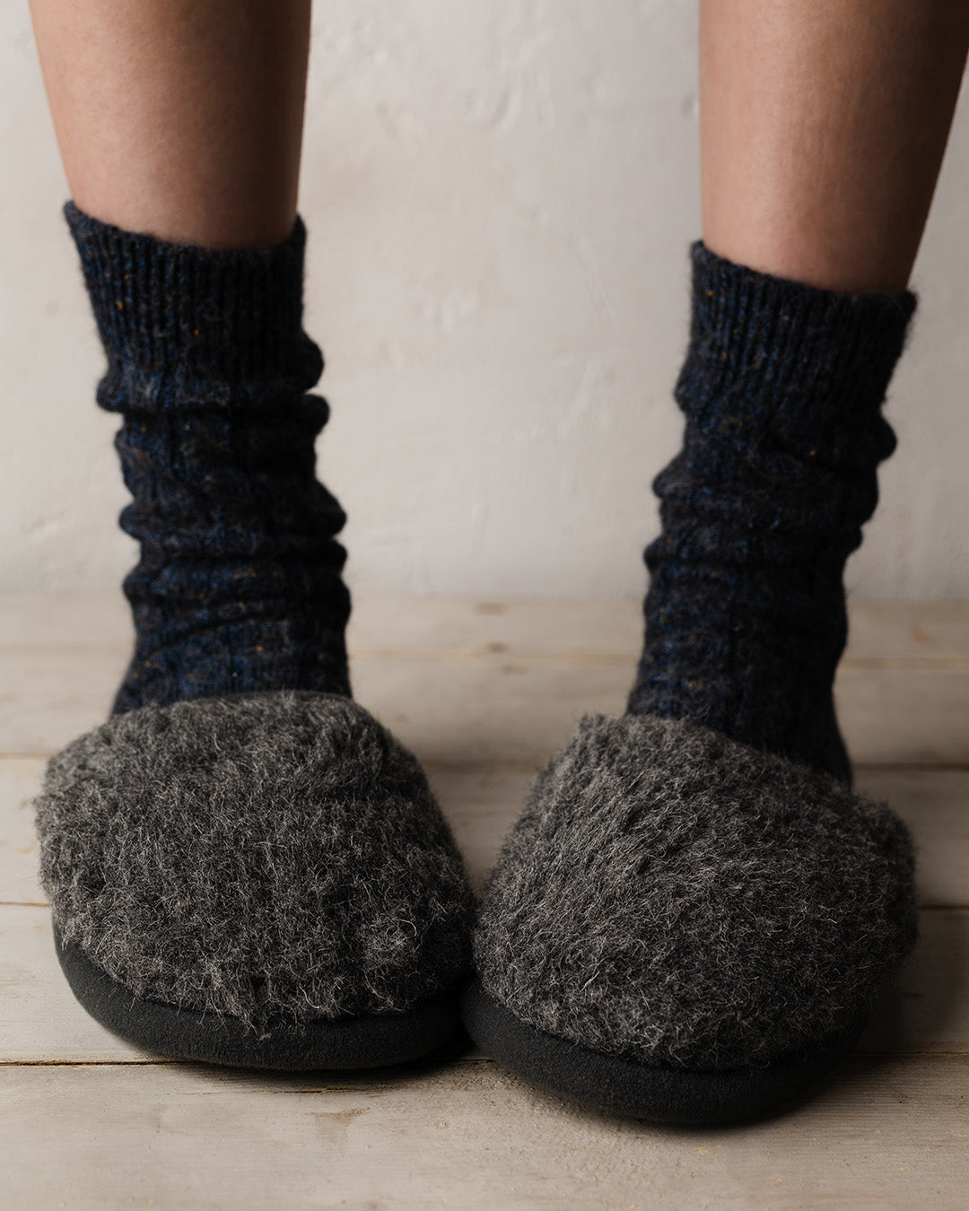 Merino Graphite House Slipper