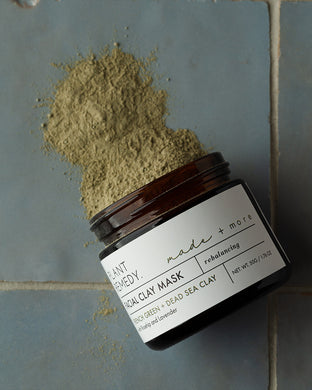 Plant Remedy x made + more Facial Clay Mask - French Green & Dead Sea Clay