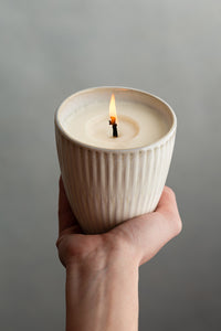 made + more Soy Candle - White Woods