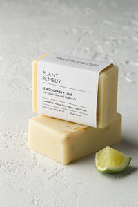 Plant Remedy Soap Bar - Lemongrass + Lime with Kaolin Clay and Calendula
