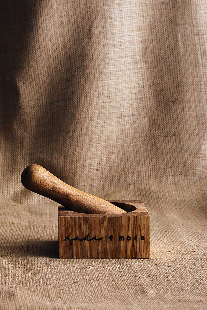 made + more Mortar & Pestle in Ash/Oak