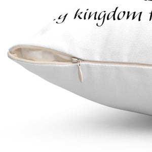 """My Kingdom for a HORSE!"" Spun Polyester Square Pillow - Black"