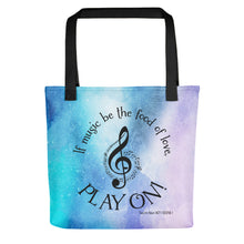 "Load image into Gallery viewer, ""Play On"" Galaxy Tote bag"
