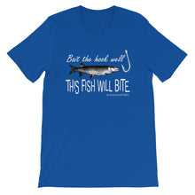 "Load image into Gallery viewer, ""This Fish Will Bite"" Short-Sleeve Unisex T-Shirt"