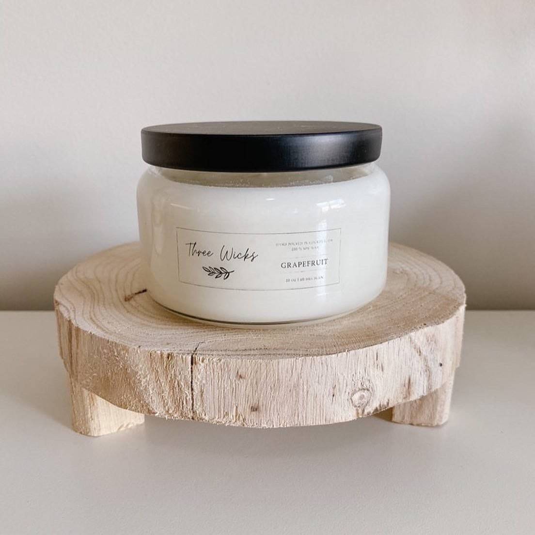 Three Wicks | 100% Soy Candles 10oz. Wood Wick