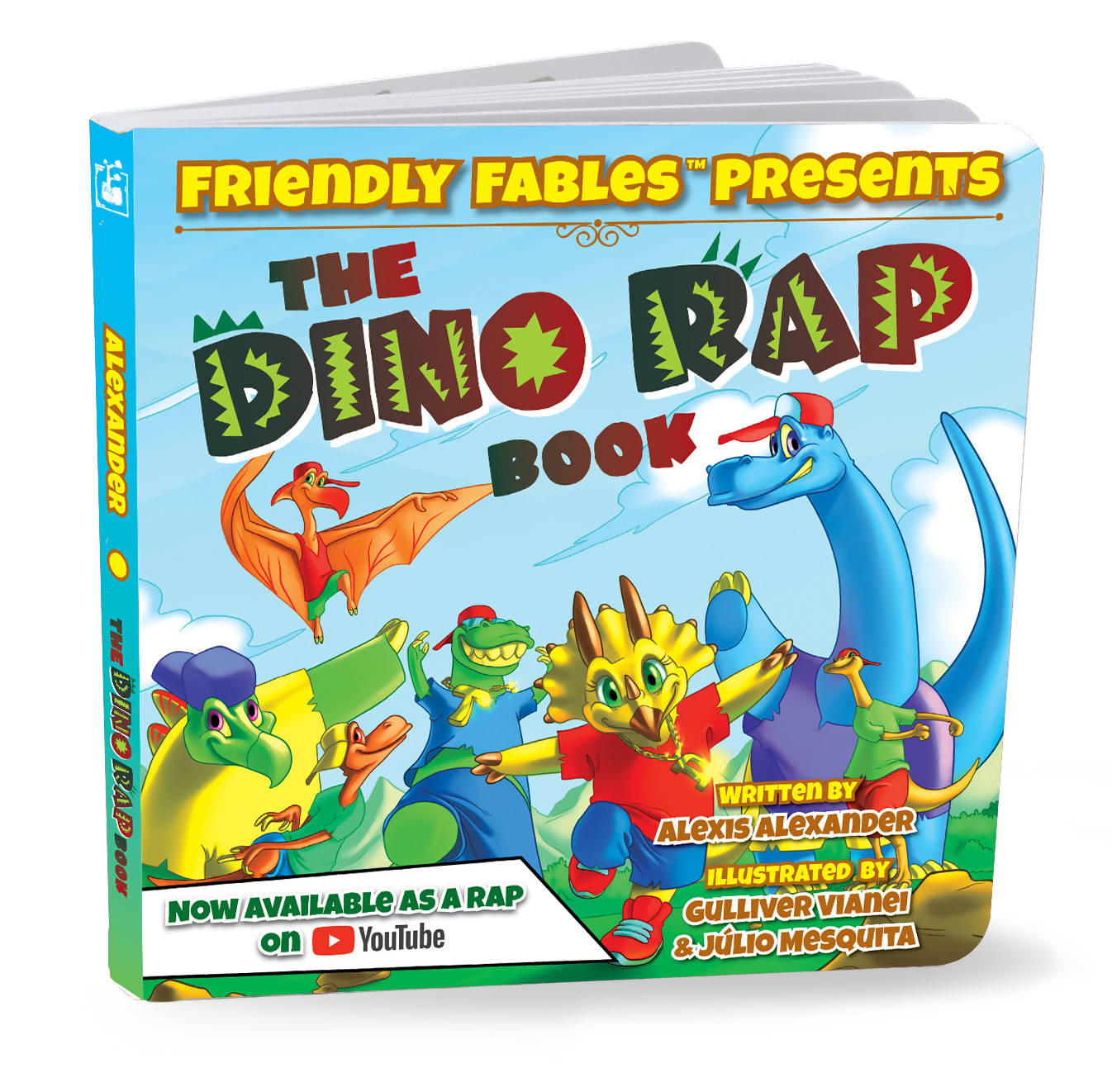 Friendly Fables | The Dino Rap Book | 088 - 0102