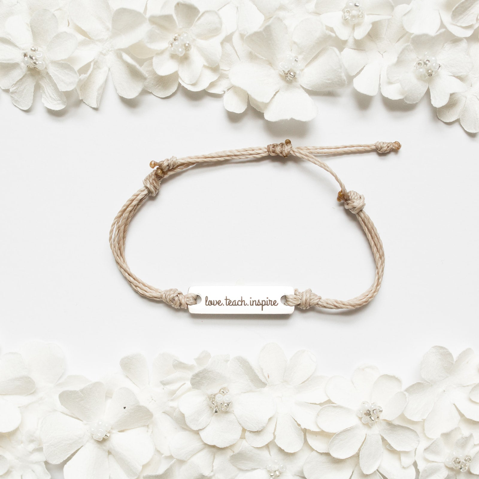HandsTAYmped Designs |  Love, Teach, Inspire Bracelet