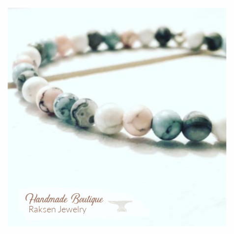 RakSen Customized Jewelry | Semiprecious Mala Beaded Bracelet