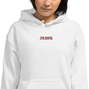 The Queen who owns the castle | Partner Hoodie mittig bestickt - Couple&Co | Partnerwear