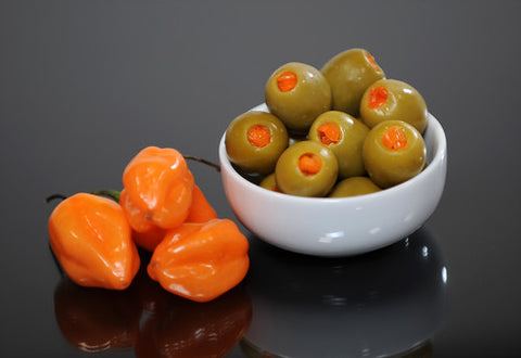 Cream Cheese & Habanero Stuffed Olive