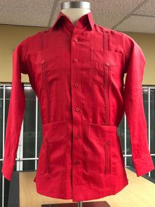 Supreme Guayabera Sizes M - Long Sleeve