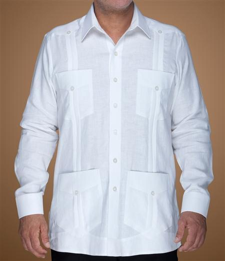 Supreme Guayabera Sizes S - Long Sleeve