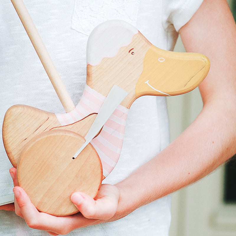 Goose Wooden Push Toy