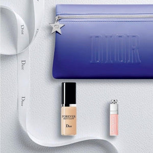 Dior Beauty Mini Set - containing Forever Fluid Skin Glow Foundation, Dior Addict Lip Maximizer and a Dior Beauty Bag Free Exclusive gift with purchase