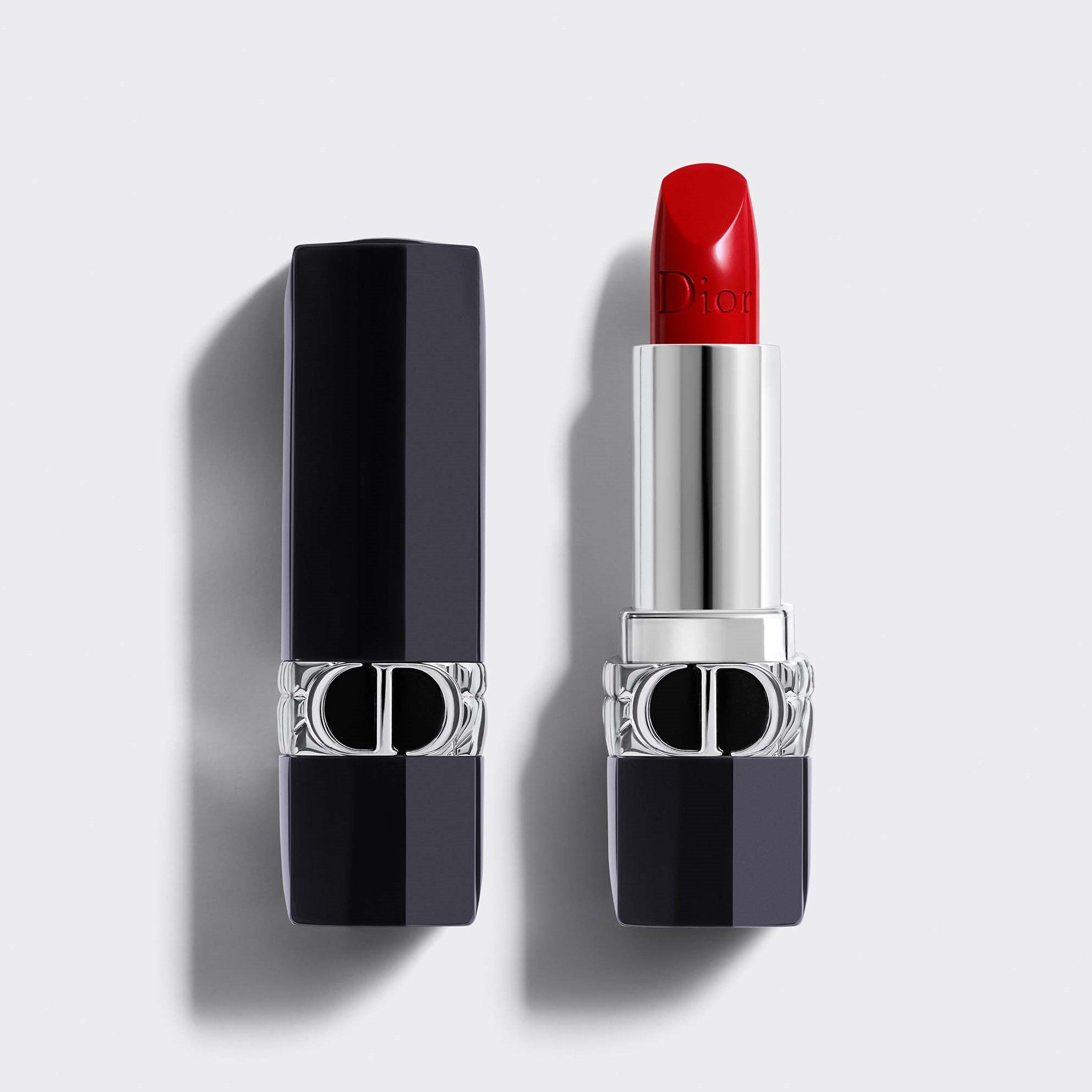 Rouge Dior Couture Color Refillable Lipstick | 4 Finishes: Satin, Matte, Metallic and Velvet - Floral Lip Care - Comfort and Long Wear