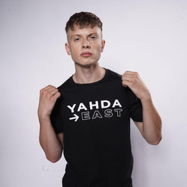 "Black ""YAHDA East"" T-Shirt"