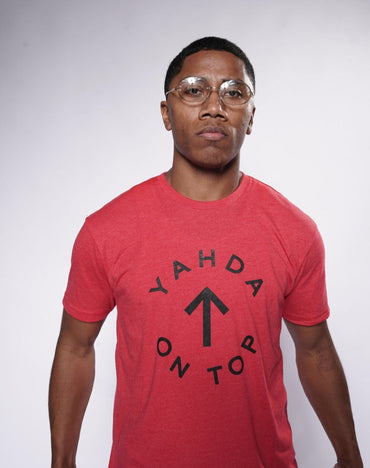 "Red ""YAHDA On Top"" T-Shirt"