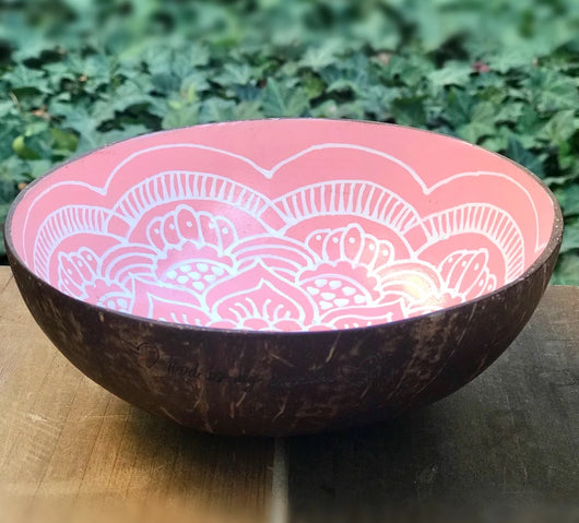 Boho up your life Coconut Bowl rose Seitenansicht