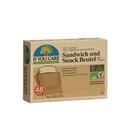 If You Care Sandwich und Snack Beutel Butterbrotpapier