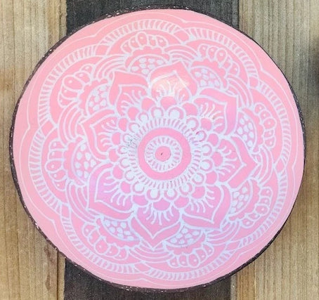 Boho up your life Coconut Bowl rosé von oben