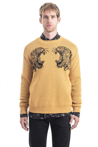 GIANNI YELLOW PANTERA SWEATER