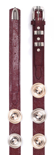 BURGUNDY WICCA BELT