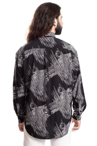 BLACK SCRATCHES SHIRT