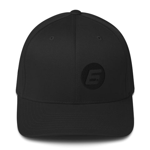Robert Wickens The 6 Black on Black FlexFit Structured Twill Cap