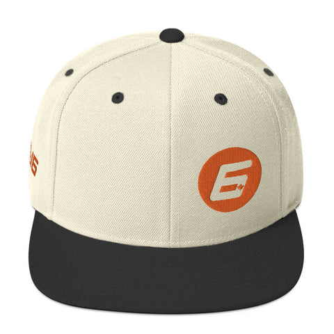 Robert Wickens The 6 Orange Thread Snapback Hat