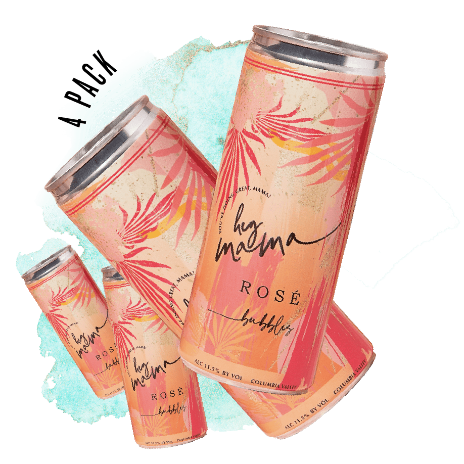 Rosé Bubbles 4 Pack - Hey Mama Wines
