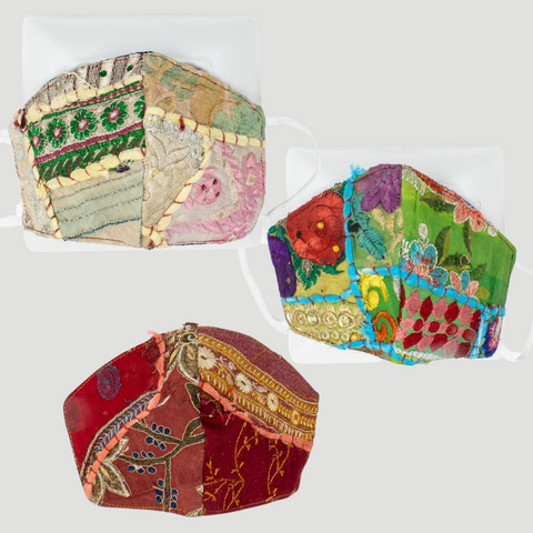 face masks slow fashion recycled patchwork