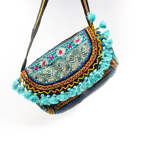 Recycled Patchwork Tassel Purse - WomenServe